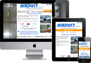 Preview of The Airduct Limited website