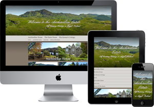 Preview of the Auchinellan Estate website