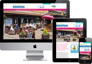 Preview of the Happy days Beachfield Website