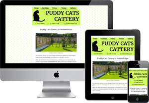 Preview of the Puddy Cats Cattery Website