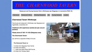 Charnwood Tavern Website Before the Re-write