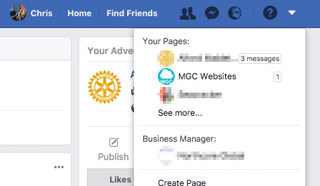 How to access your Facebook Pages
