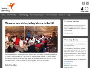 Click to visit The Society for Storytelling Web App